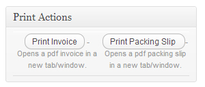 Woocommerce Extension Print Invoices