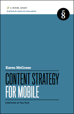 Content Strategy for Mobile Buchtipp