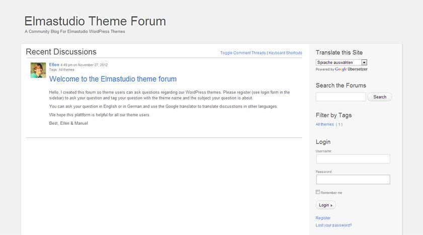 Elmastudio Theme Forum