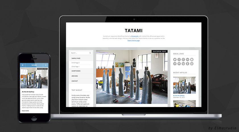 Tatami Premium Theme by Elmastudio