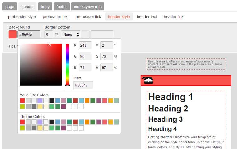 MailChimp Newsletter Gestaltung