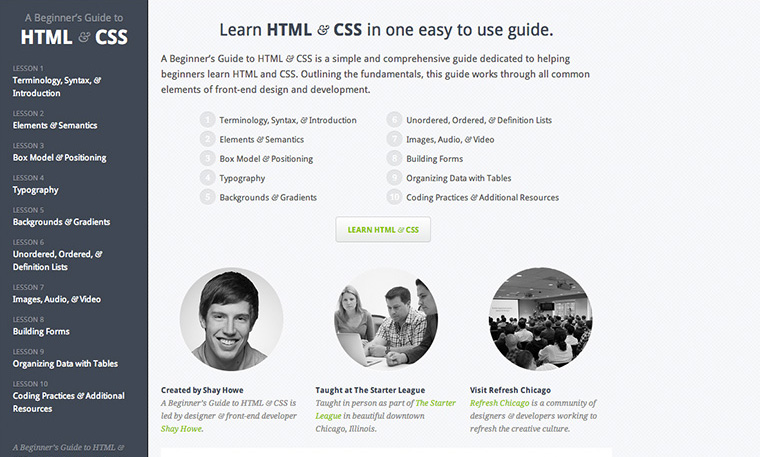 Beginners Guide to HTML and CSS