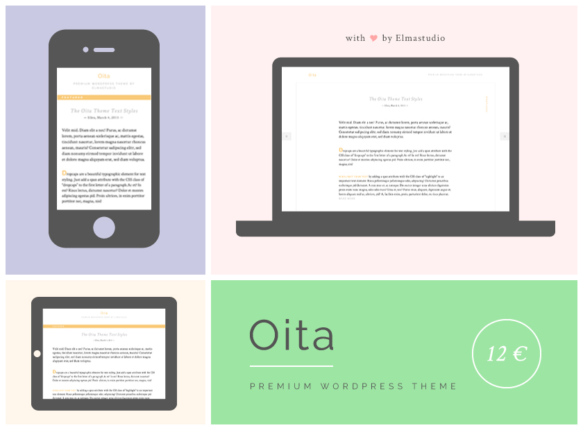 Premium responsive WordPress Theme Oita