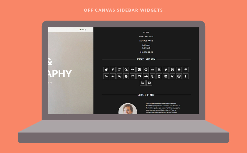 The Off Canvas Sidebar and Navigation.