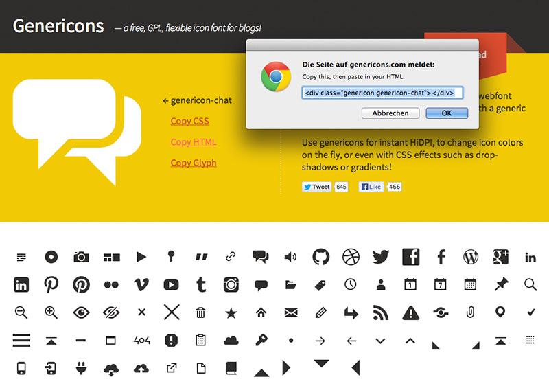Den HTML Code des Chat-Icons kopieren.
