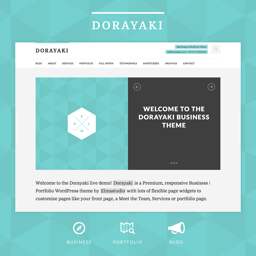 Dorayaki WordPress Theme by Elmastudio