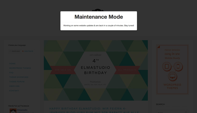 The Ultimate WordPress Maintenance Mode Plugin.