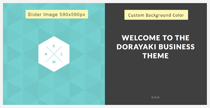 Responsive Slider options for Dorayaki.