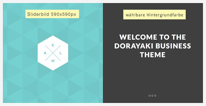 responsive Slider im Dorayaki-Theme