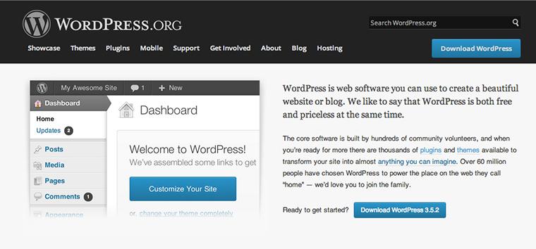 WordPress Download bei WordPress.org.