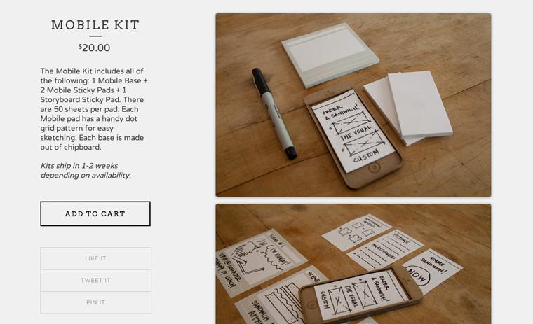 Das Sticky Jots Mobile Kit für Skizzen.