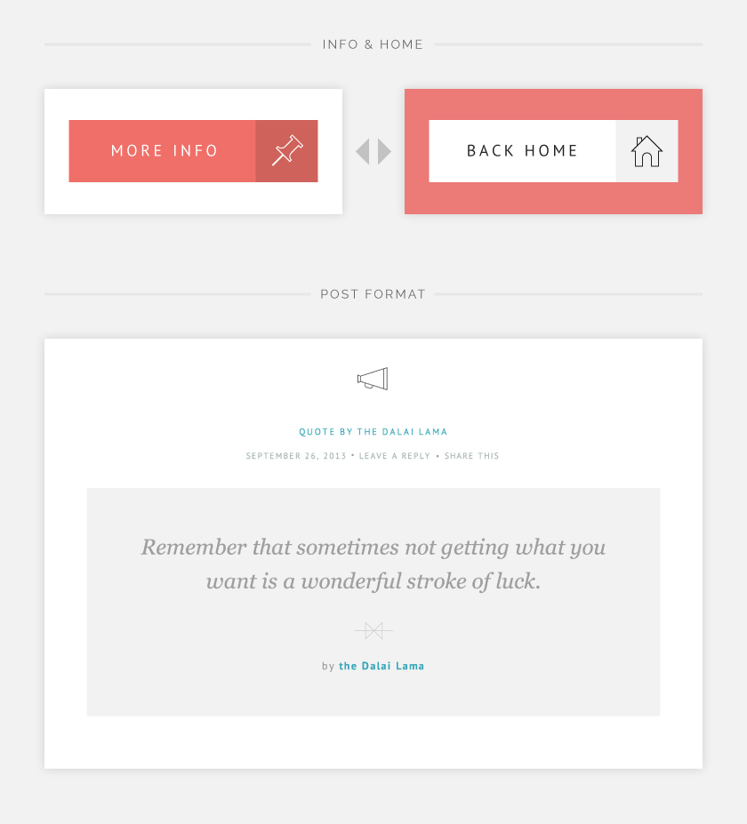 Kiore Moana Info + Home Button und ein Zitat-Artikel.