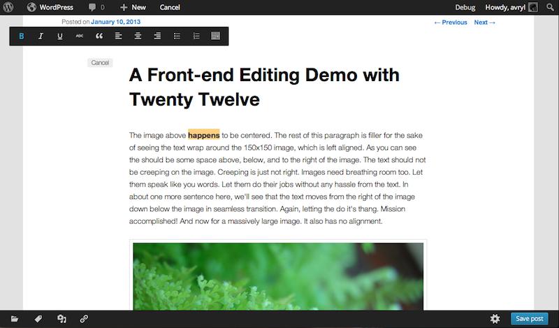 Mit dem Front-End-Editor soll eine ganz neue Funktion eingeführt werden.
