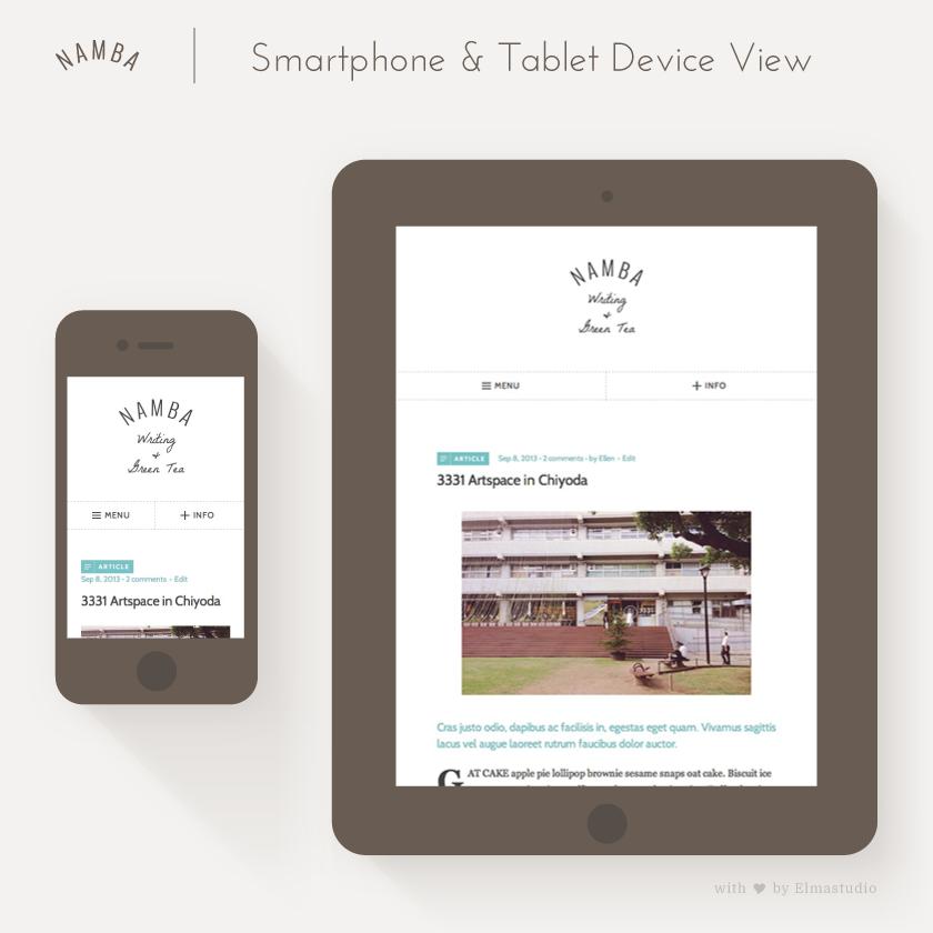 Namba auf mobilen Geräten