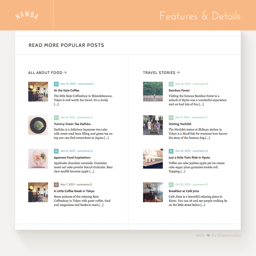 Feature Posts by Categories