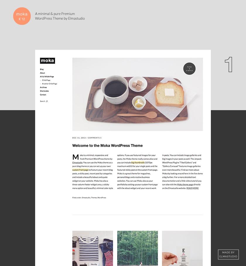 Moka: A New Minimal, Responsive Premium WordPress Theme by ...