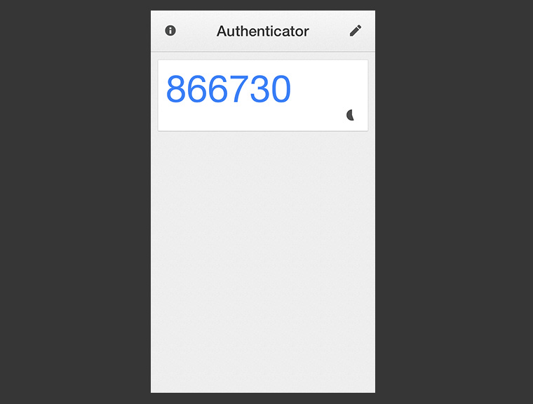 Die Google Authenticator iPhone App.