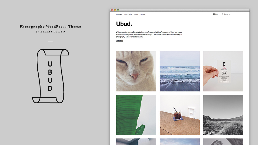 Ubud: Our Newest Minimal Photography WordPress Theme – Elmastudio