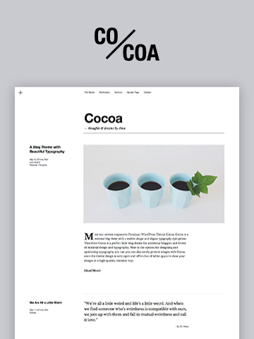 Premium WordPress Theme Cocoa Elmastudio