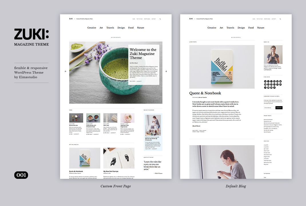 Zuki: The newest, super flexible, minimal WordPress Magazine Theme ...