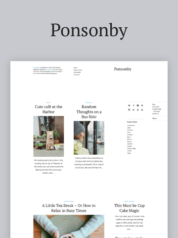 Ponsonby WordPress Theme