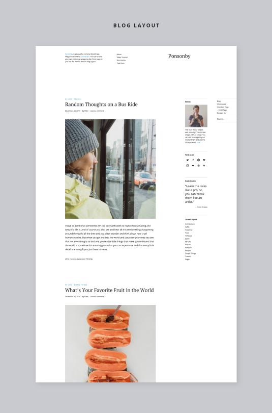 Ponsonby Blog Seite