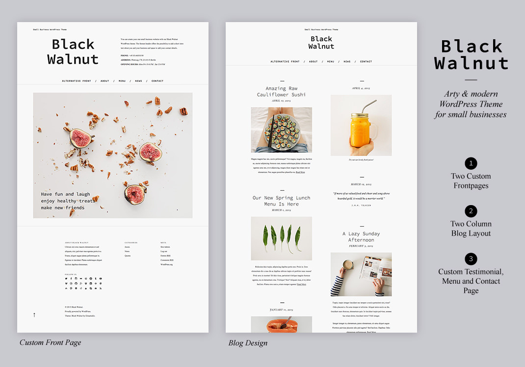 WordPress Business Theme Black Walnut