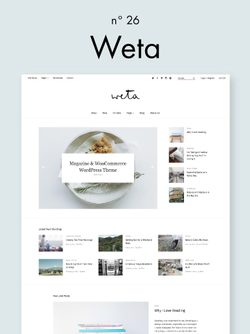 Weta Magazine WooCommerce WordPress Theme