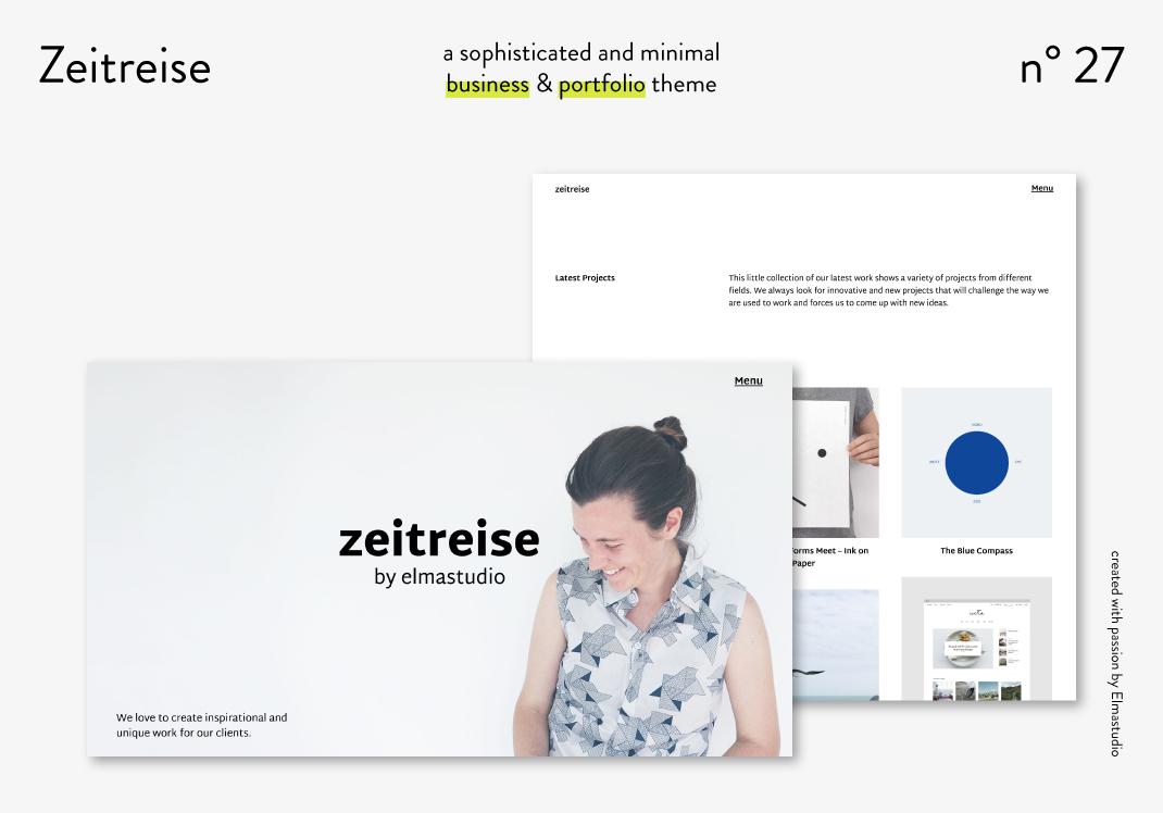 Zeitreise Portfolio und Business WordPress Theme von Elmastudio