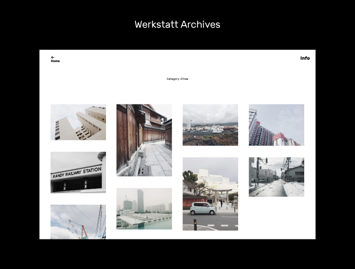 The Werkstatt archive pages.