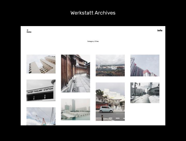 Die Archiv-Ansicht im Werkstatt-Theme.
