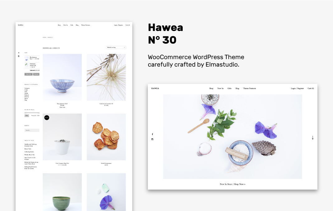 Hawea WordPress WooCommerce theme