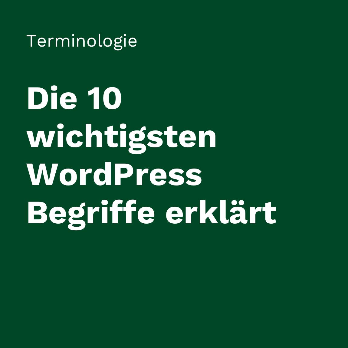 Wichtige WordPress Begriffe erklärt