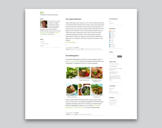 Ari Free WordPress Blog Theme