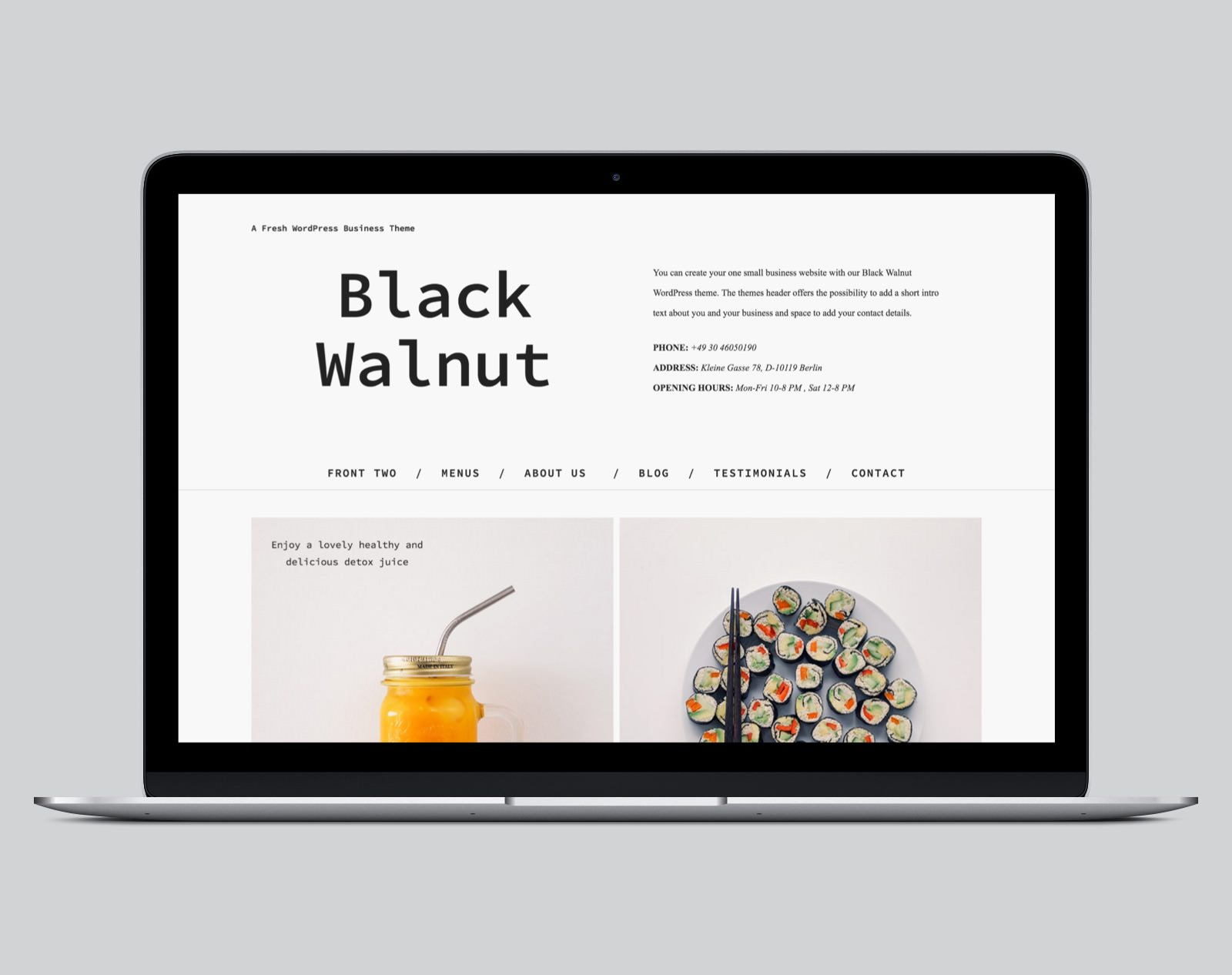 Black Walnut WordPress Business Theme