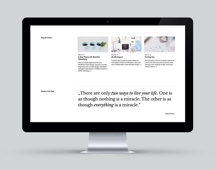 Cocoa WordPress Blog Theme