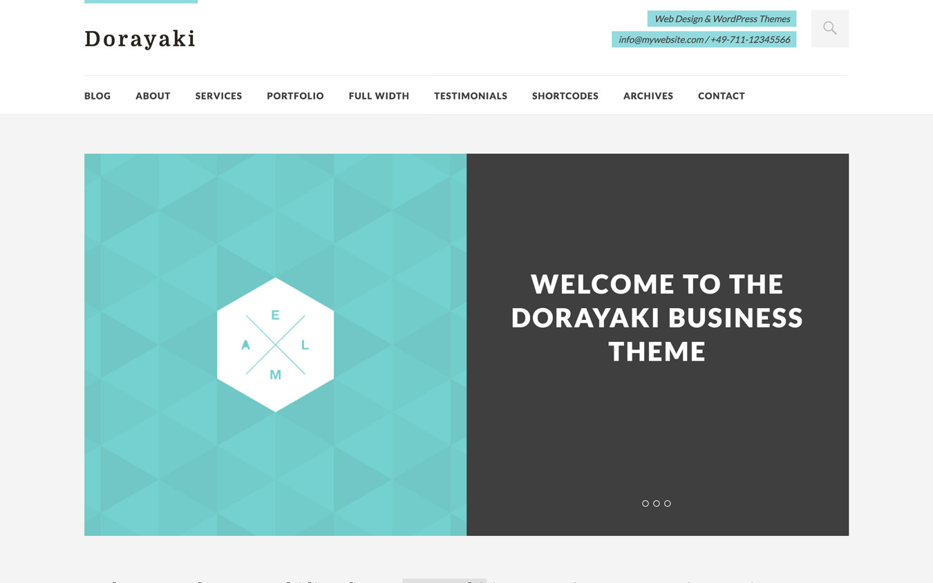 Dorayaki WordPress Theme