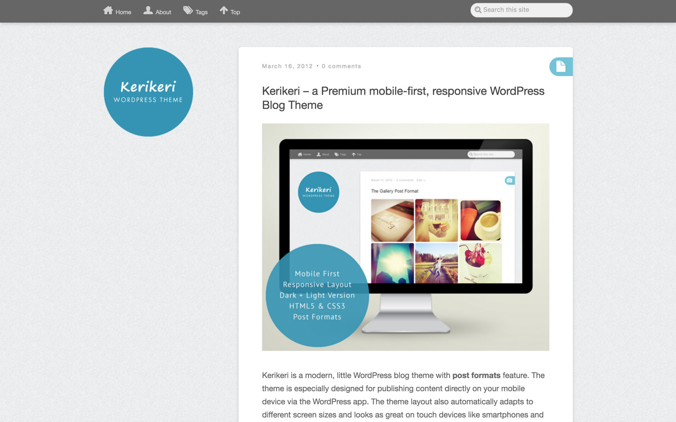 Kerikeri WordPress Theme