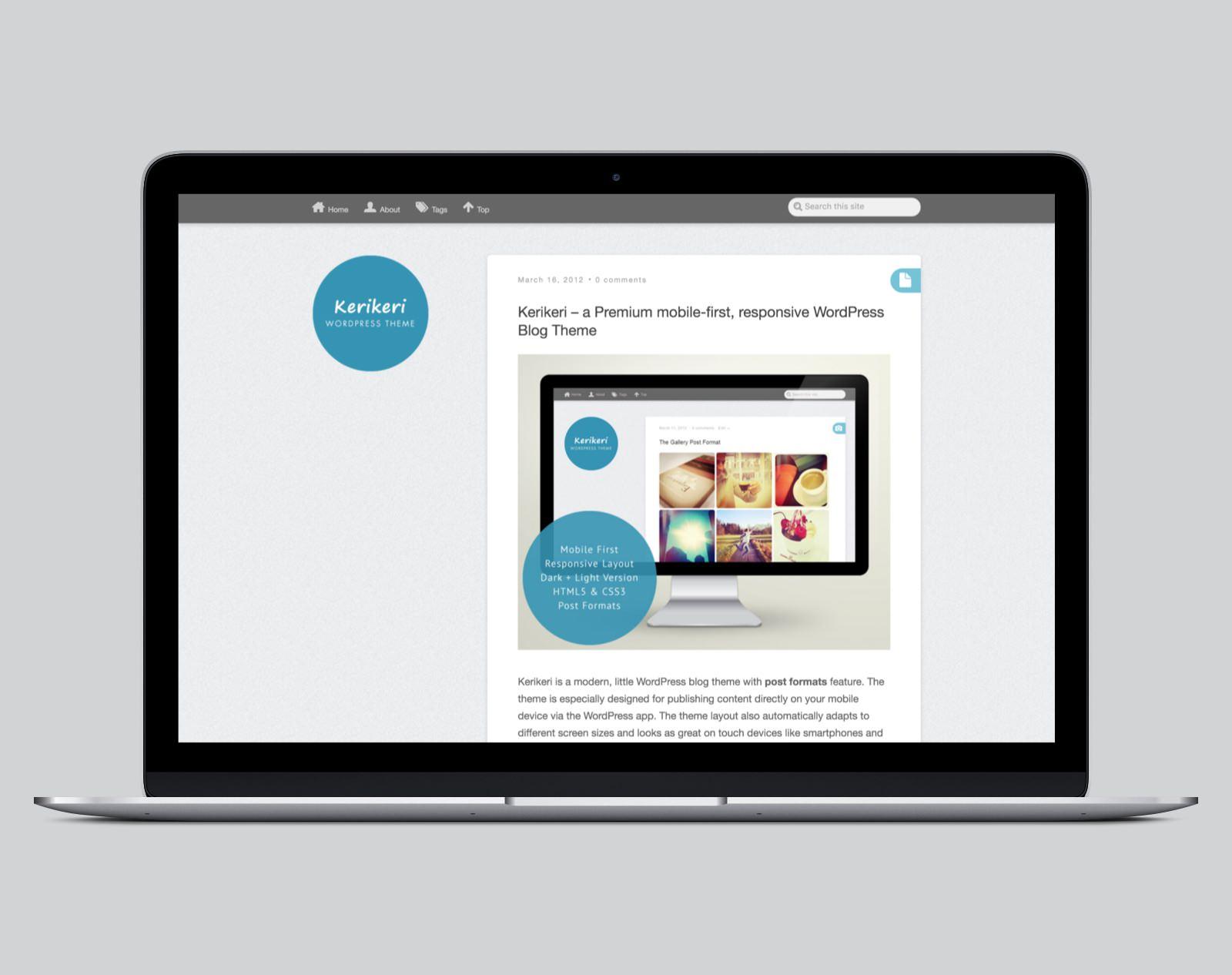 Kerikeri  WordPress Blog Theme