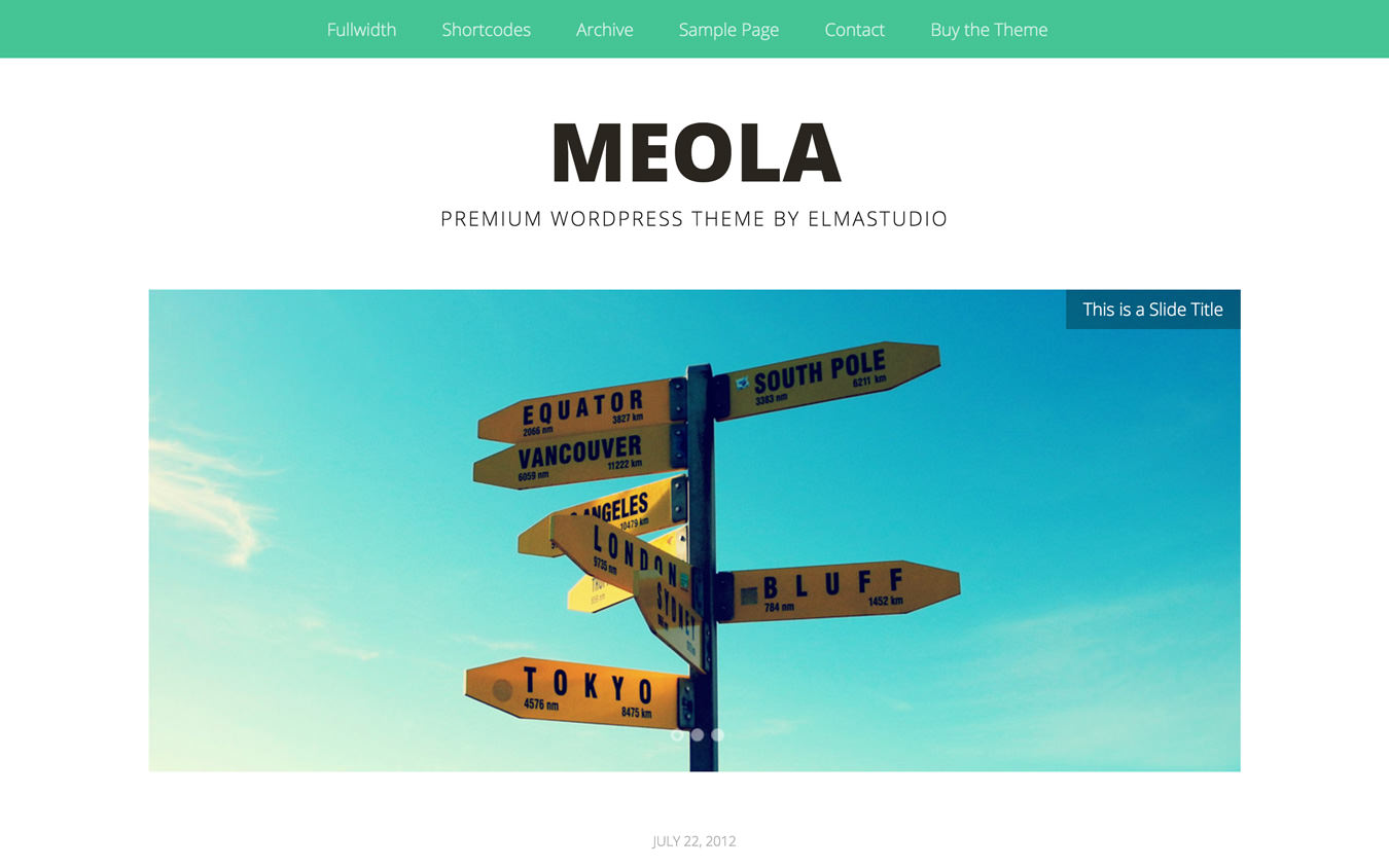 Meola WordPress Theme