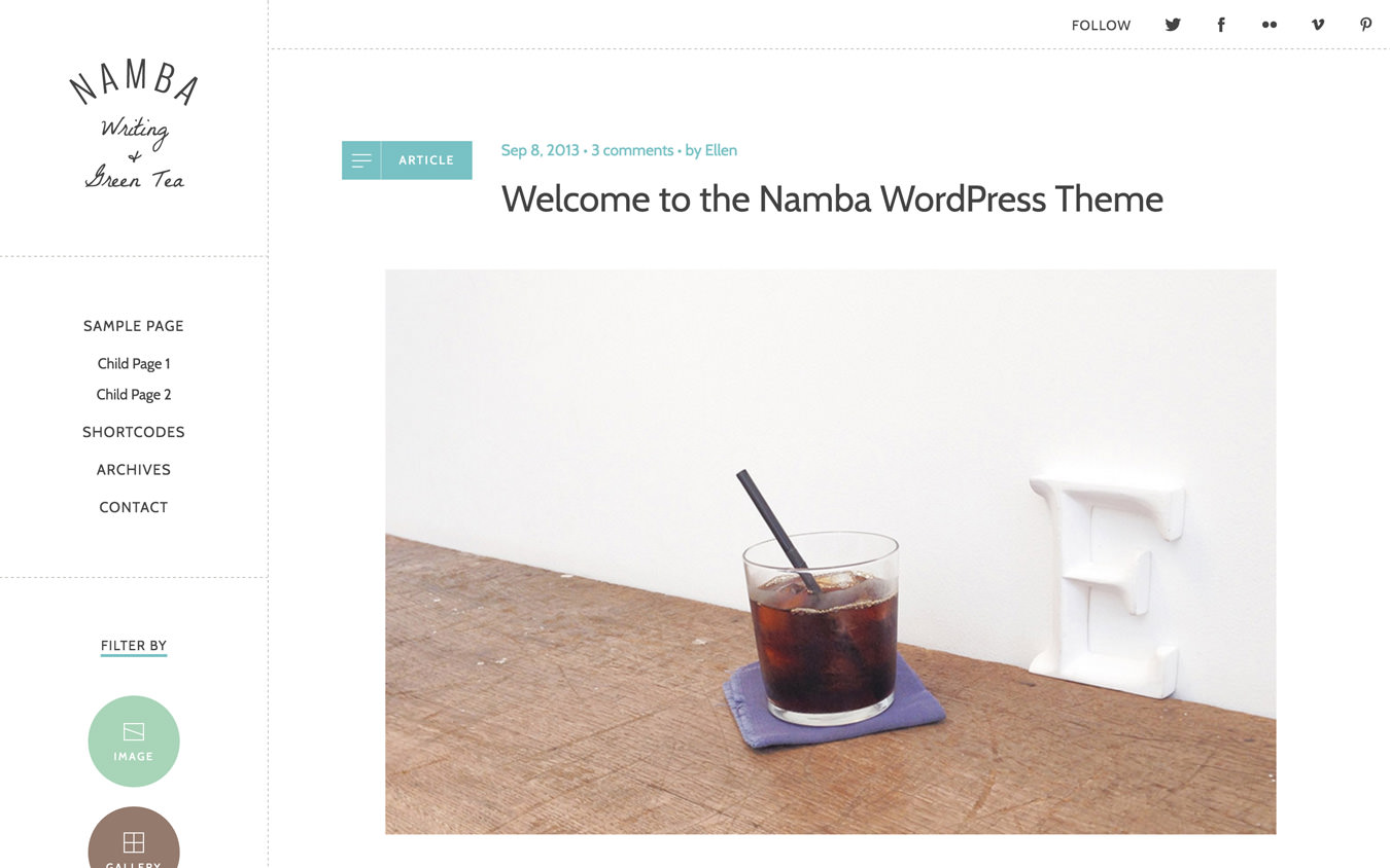 Namba WordPress Theme
