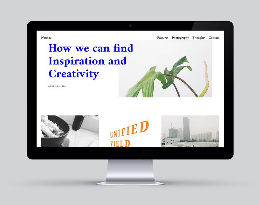 Neubau Blog theme