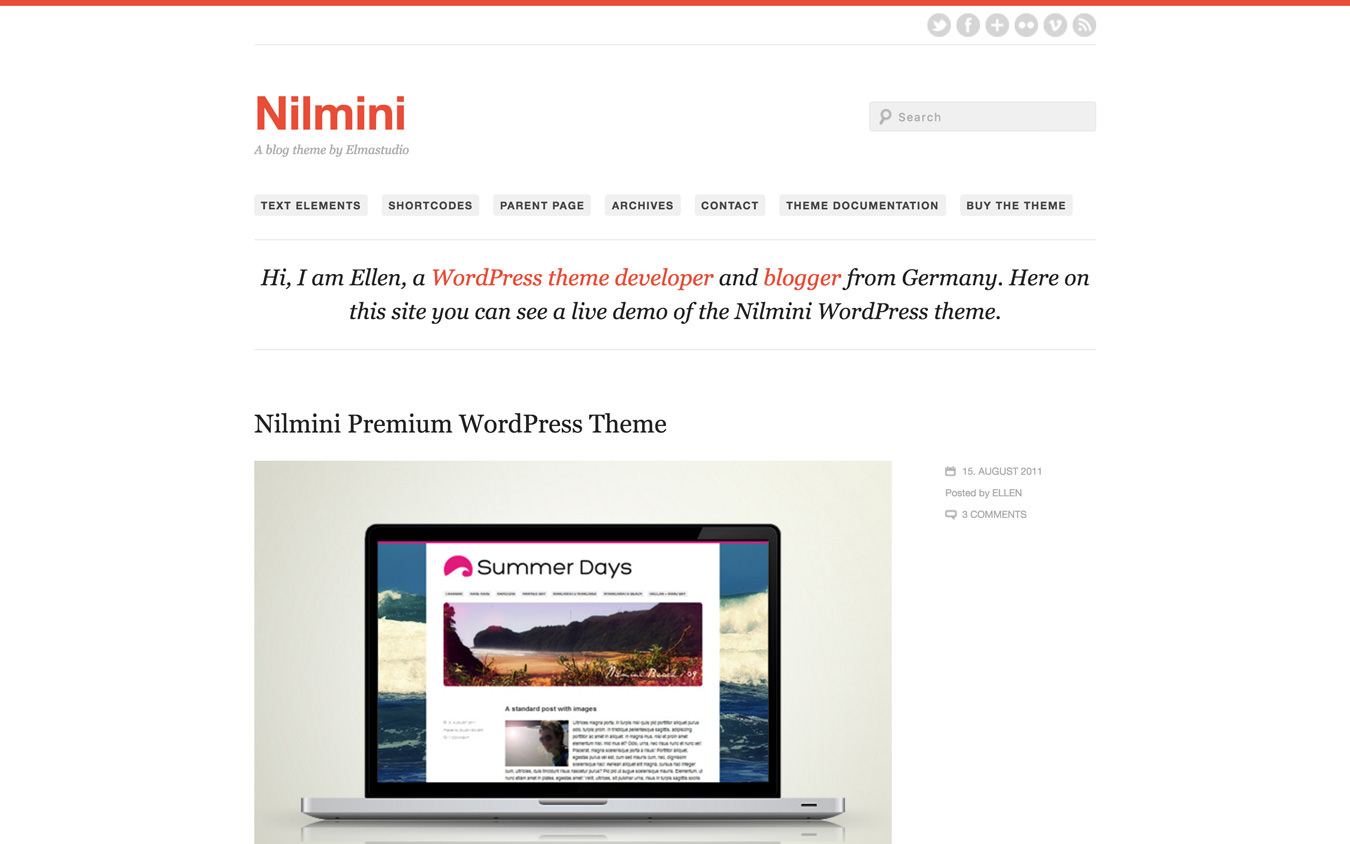 Nilmini WordPress Theme