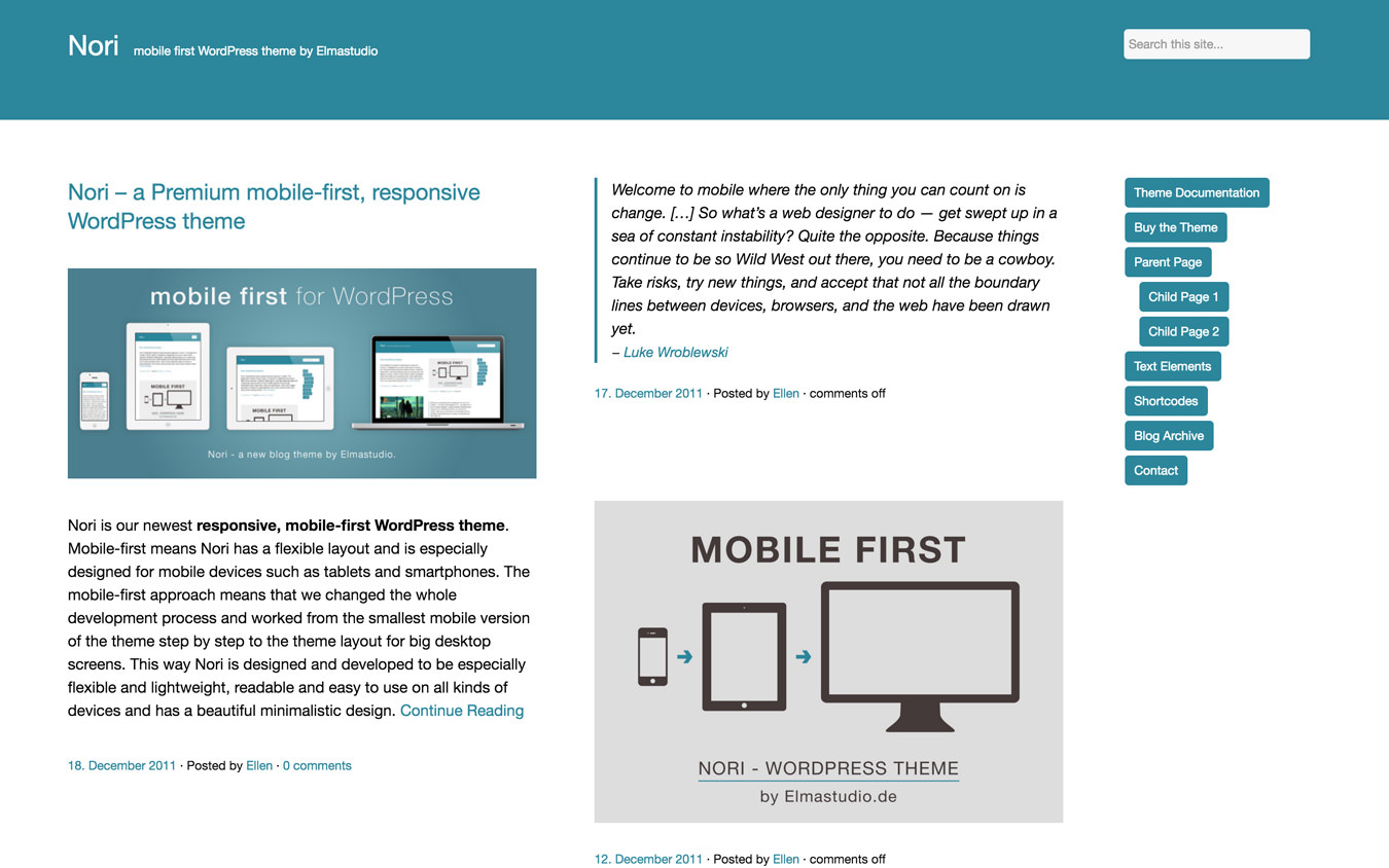 Nori WordPress Theme