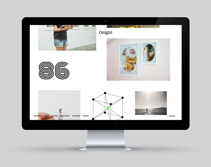 Onigiri WordPress Portfolio Theme