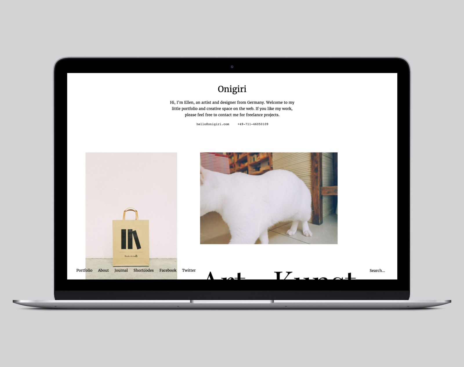 Onigiri WordPress Portfolio Theme