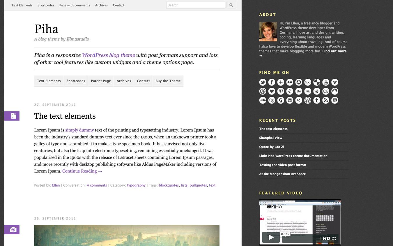 Piha WordPress Theme