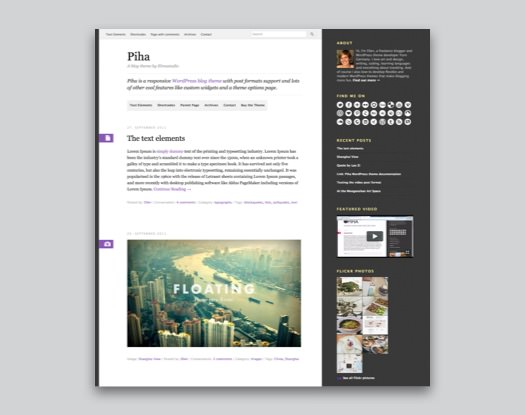 Piha WordPress Blog Theme
