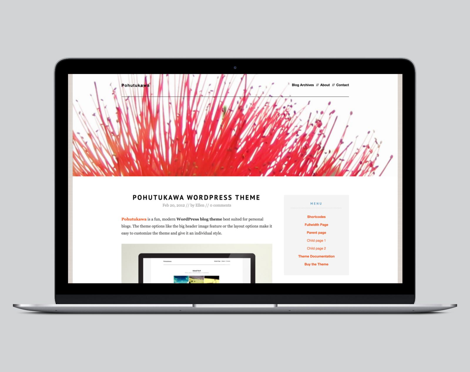 Pohutukawa WordPress Blog Theme