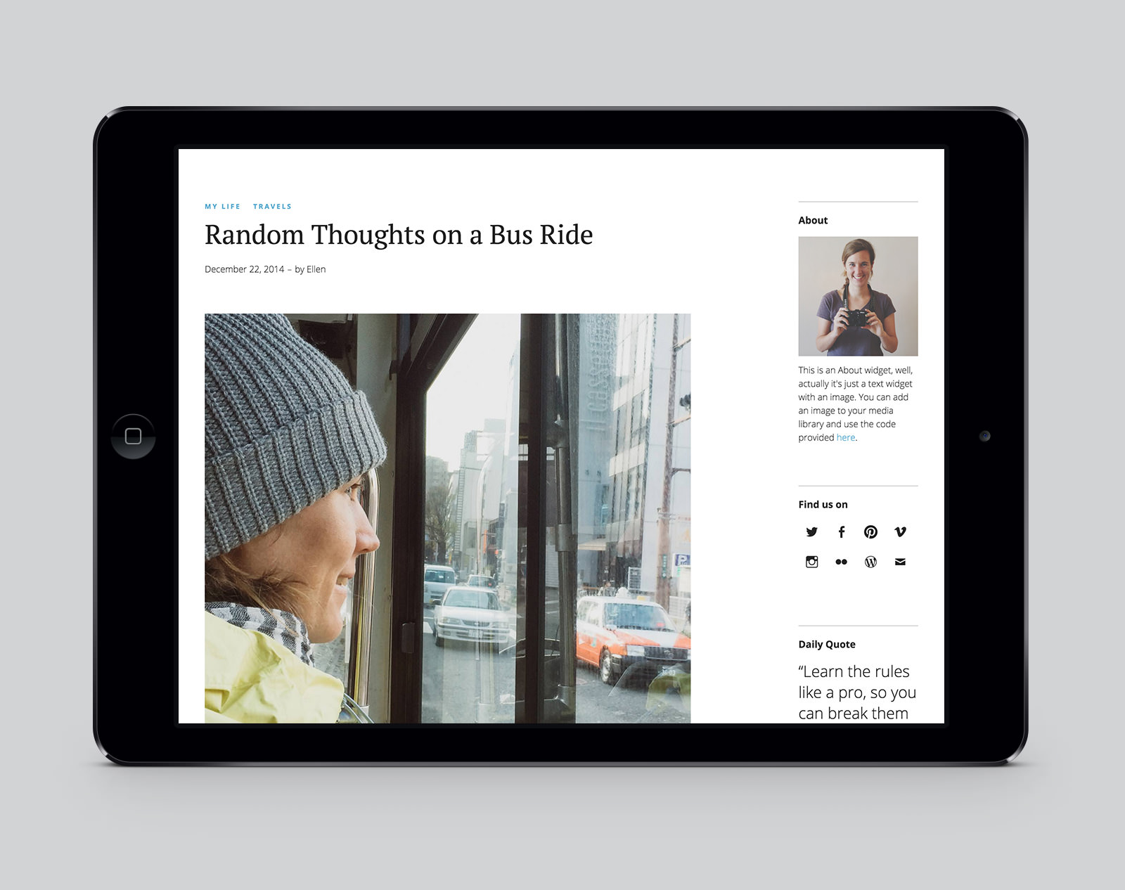 Ponsonby WordPress Blog Theme